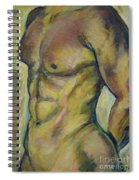 Nude Male Torso Spiral Notebook