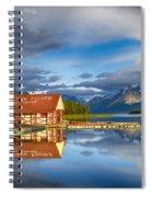 Maligne Boat House Spiral Notebook