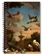Mallard Golden Eagle Wild Fowl In Flight Spiral Notebook