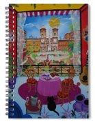 Mallorca, Spain, 2012 Acrylic On Canvas Spiral Notebook