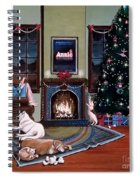 Mallory Christmas Spiral Notebook
