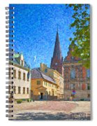Malmo Stortorget Painting Spiral Notebook