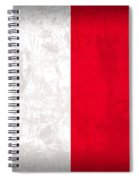 Malta Flag Vintage Distressed Finish Spiral Notebook