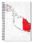 Malta Painted Flag Map Spiral Notebook