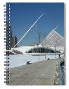 Mam In Winter With Jogger Spiral Notebook