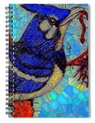 Mama Bird Feeding Baby Bird Spiral Notebook