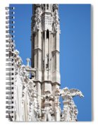 Man And Dragon Gargoyles With Tower Duomo Di Milano Italia Spiral Notebook