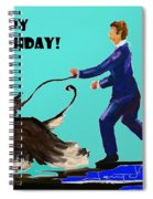 Man And His Dog Spiral Notebook