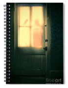 Man At Door With Cleaver Spiral Notebook
