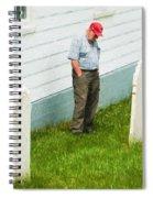 Man At Headstone Spiral Notebook