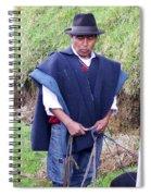 Man At Otavalo Animal Market Ecuador Spiral Notebook