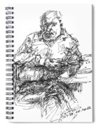 Man At The Bar Spiral Notebook