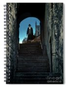 Man At The Top Of The Steps Spiral Notebook