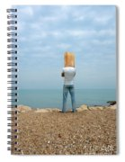 Man By The Sea With Bag On His Head Spiral Notebook