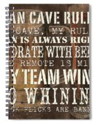 Man Cave Rules Square Spiral Notebook