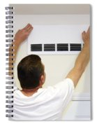 Man Covering Air Vent Spiral Notebook