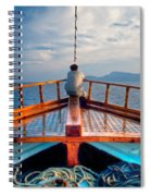 Man Day-deaming On Traditional Greek Ship Spiral Notebook