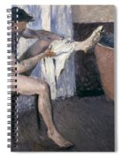 Man Drying His Leg  Spiral Notebook