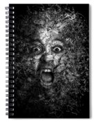 Man Eyes Face Horror Portrait Black And White  Spiral Notebook