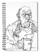 Man Having Coffee Spiral Notebook