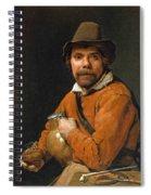 Man Holding A Jug Spiral Notebook