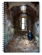 Man In Abandoned Building Spiral Notebook