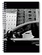 Man In Car - Scenes From A Big City Spiral Notebook