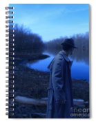 Man In Fedora By River Spiral Notebook
