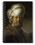 Man In Oriental Dress Spiral Notebook