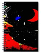 Man In The Moon Edited Spiral Notebook