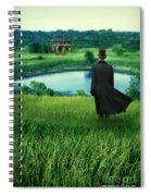 Man In Top Hat On A Hill Spiral Notebook