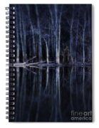 Man In Woods By River Spiral Notebook