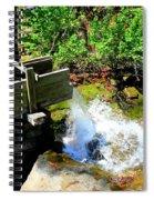 Man Made Waterfall V2 Spiral Notebook
