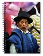 Man Of Cotacachi Ecuador Spiral Notebook