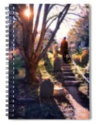Man On Cemetery Steps Spiral Notebook