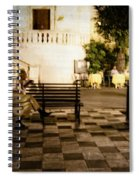 Man On The Bench Spiral Notebook