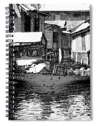 Man Plying A Small Boat Laden With Vegetables In The Dal Lake Spiral Notebook