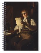 Man Reading By Candlelight Spiral Notebook
