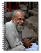 Man Smiles For Camera Lahore Pakistan Spiral Notebook