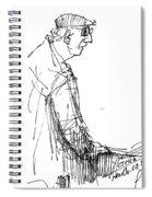 Man Standing Spiral Notebook