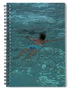 Man Swimming Spiral Notebook