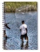 Man Throwing Cast Net Spiral Notebook