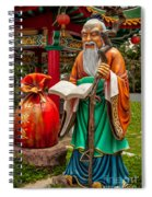 Man Under The Moon Spiral Notebook