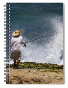 Man Versus The Sea Spiral Notebook
