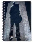 Man With A Briefcase Spiral Notebook