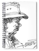 Man With A Hat Spiral Notebook