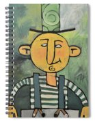 Man With Fancy Hat And Suspenders Spiral Notebook