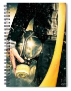 Man With Gas Mask. New Beginning. Skys The Limit Spiral Notebook