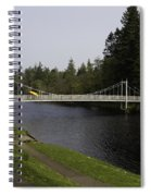 Man With Kayak Crossing Over Small Bridge From Ness Islands Spiral Notebook