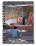 Man Worshiping Spiral Notebook